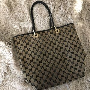 Gucci Monogram Canvas Shopper Tote